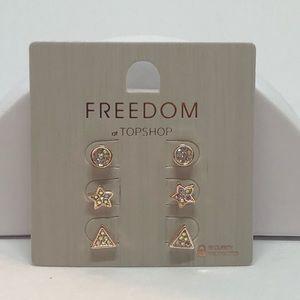 🆕Topshop Set of 3 Stud Earrings